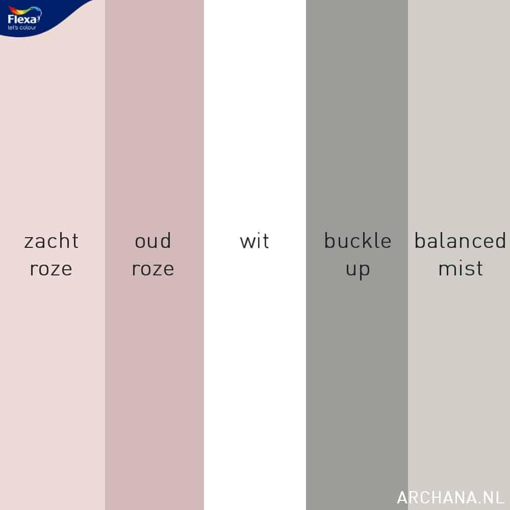 flexa kleuren | 10 ideeën voor een slaapkamer met wit, roze en grijs | ARCHANA.NL #slaapkamers #bedrooms | slaapkamer ideeen | slaapkamer interieur
