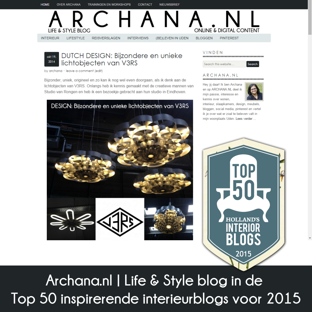 Archana.nl | Life & Style blog in de Top 50 inspirerende interieurblogs voor 2015 | www.archana.nl
