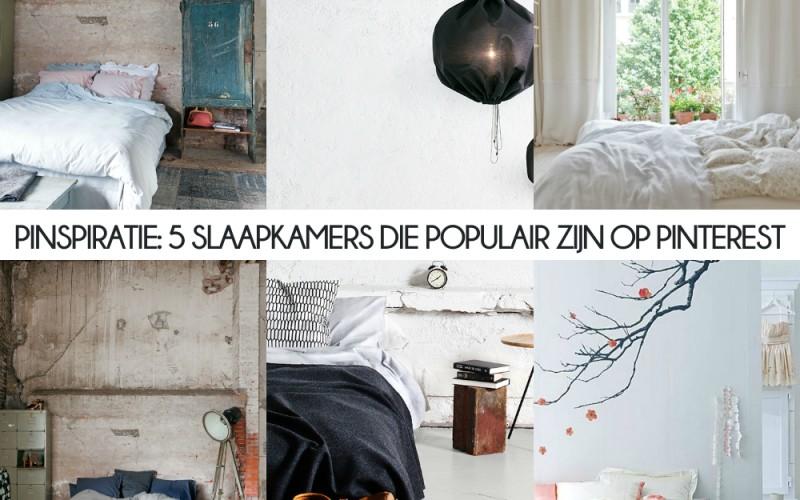 PINSPIRATIE: 5 slaapkamers die populair zijn op Pinterest