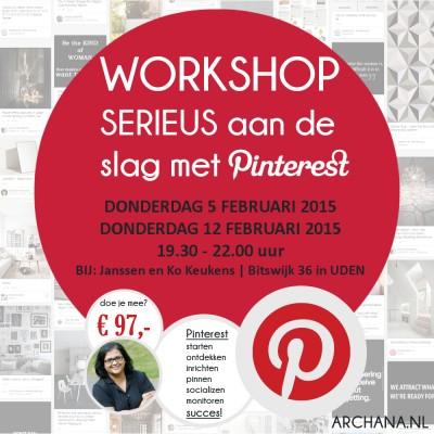 WORKSHOP PINTEREST: Serieus aan de slag met Pinterest