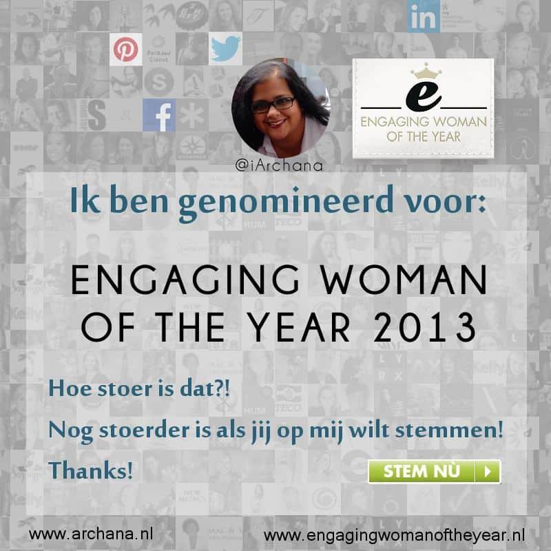 Engaging Woman Of The Year 2013 verkiezing | www.archana.nl