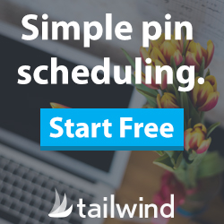 Simple pin scheduling. Start free. Tailwind
