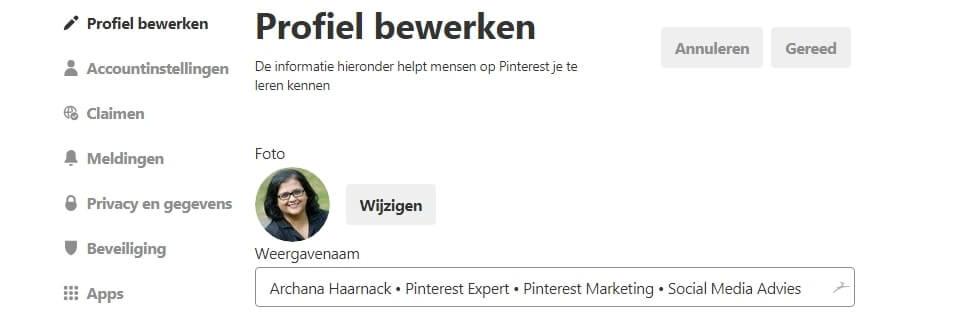 Wil je meer bezoekers op je website? Lees dit: Perfecte Pinterest profiel voor meer traffic naar je website | ARCHANA.NL #pinterestmarketing #pinteresttips