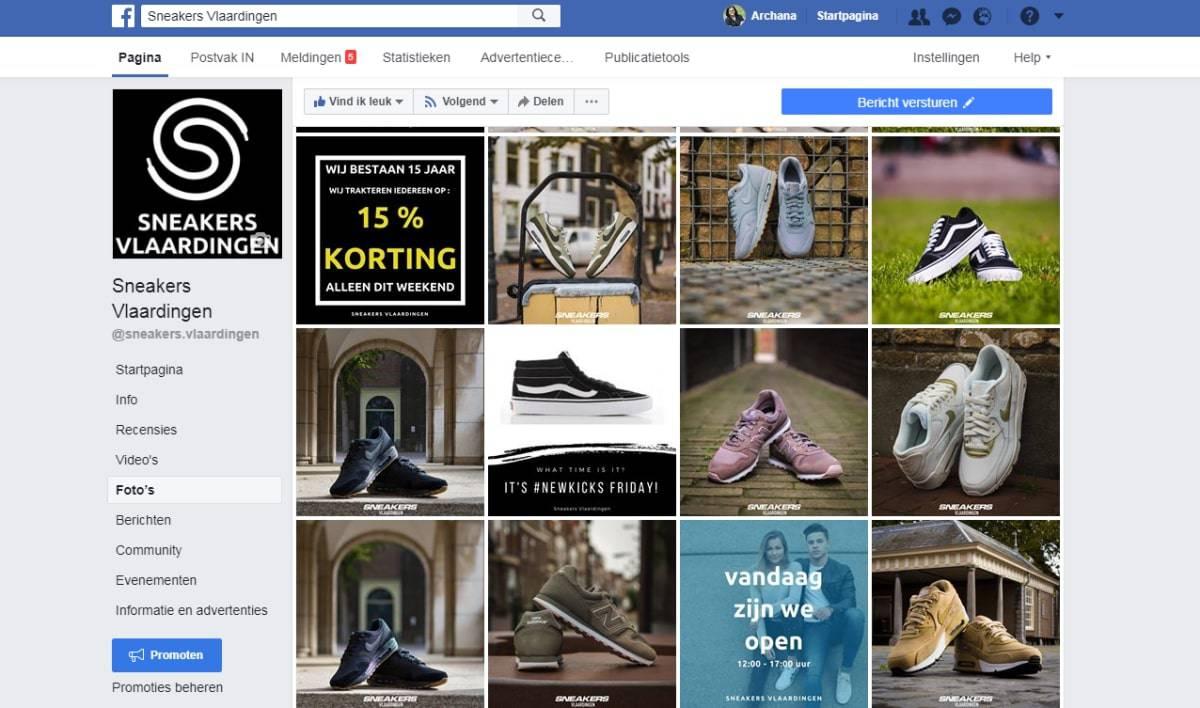 Facebook beelden van Sneakers Vlaardingen | Social Media Coaching case: Sneakers Vlaardingen | ARCHANA.NL #socialmedia #socialmediamarketing