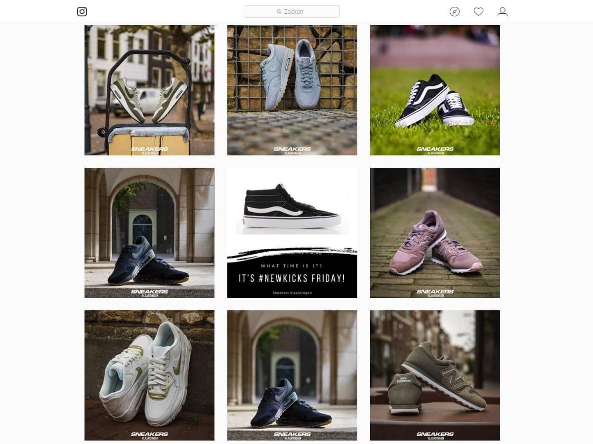 Instagram beelden van Sneakers Vlaardingen | Social Media Coaching case: Sneakers Vlaardingen | ARCHANA.NL #socialmedia #socialmediamarketing