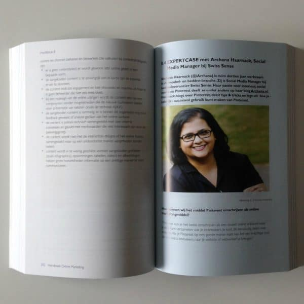 Expertcase met Archana Haarnack over Pinterest in Handboek Online Marketing van Patrick Petersen | ARCHANA.NL