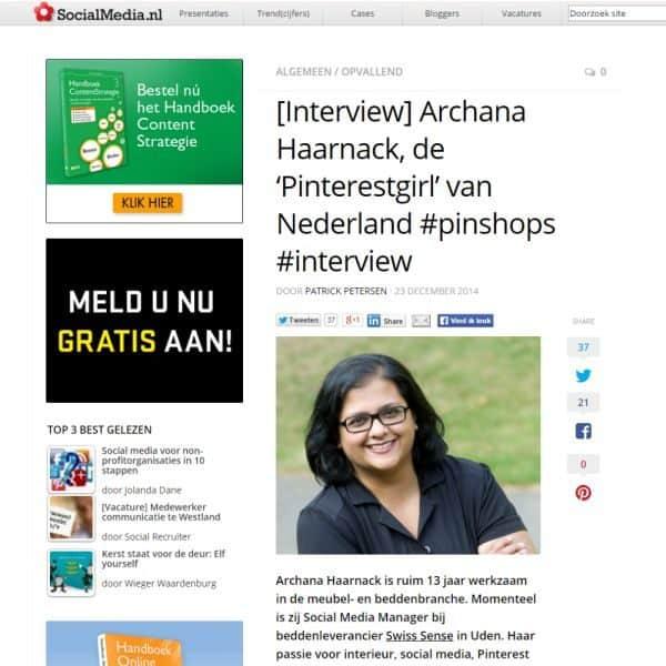 Interview: Archana Haarnack, de 'Pinterestgirl' van Nederland op Nieuws.Social | ARCHANA.NL