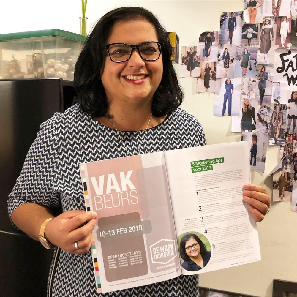 Archana Haarnack in Bedding Business Magazine nr.5 - 2018 | 5 Marketing tips om toe te passen in 2019 | ARCHANA.NL #socialmedia #socialmediatips