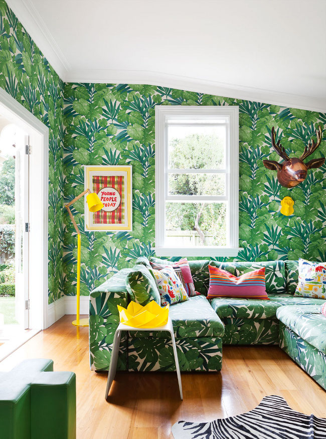 Slaapkamers en interieurs met tropisch behang | ARCHANA.NL