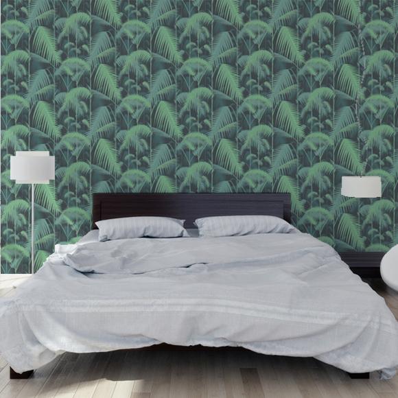 Slaapkamers en interieurs met tropisch behang archana nl - Slaapkamer met behang ...