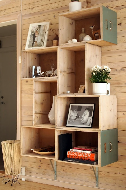 Kamer Pimpen Ideeen : Shelves From Old Drawers
