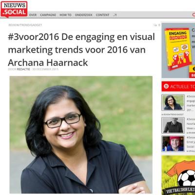 Engaging en visual marketing trends voor 2016 van Archana