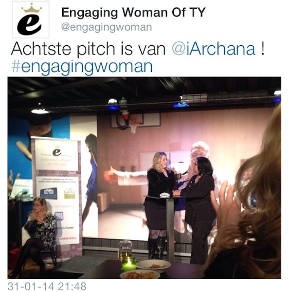 Archana Haarnack als top 10 finalist bij Engaging Woman of the Year 2013 | www.archana.nl