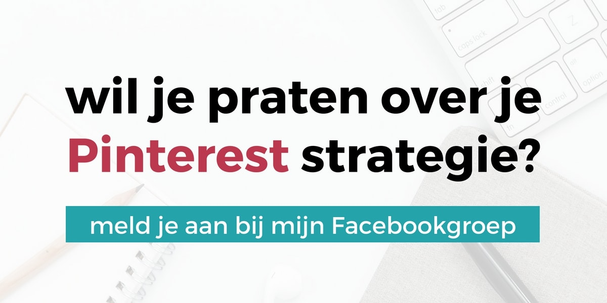 Wil je praten over je Pinterest strategie? Meld je aan bij de Succes Met Pinterest Strategie Groep op Facebook | ARCHANA.NL #pinterest #pinterestmarketing