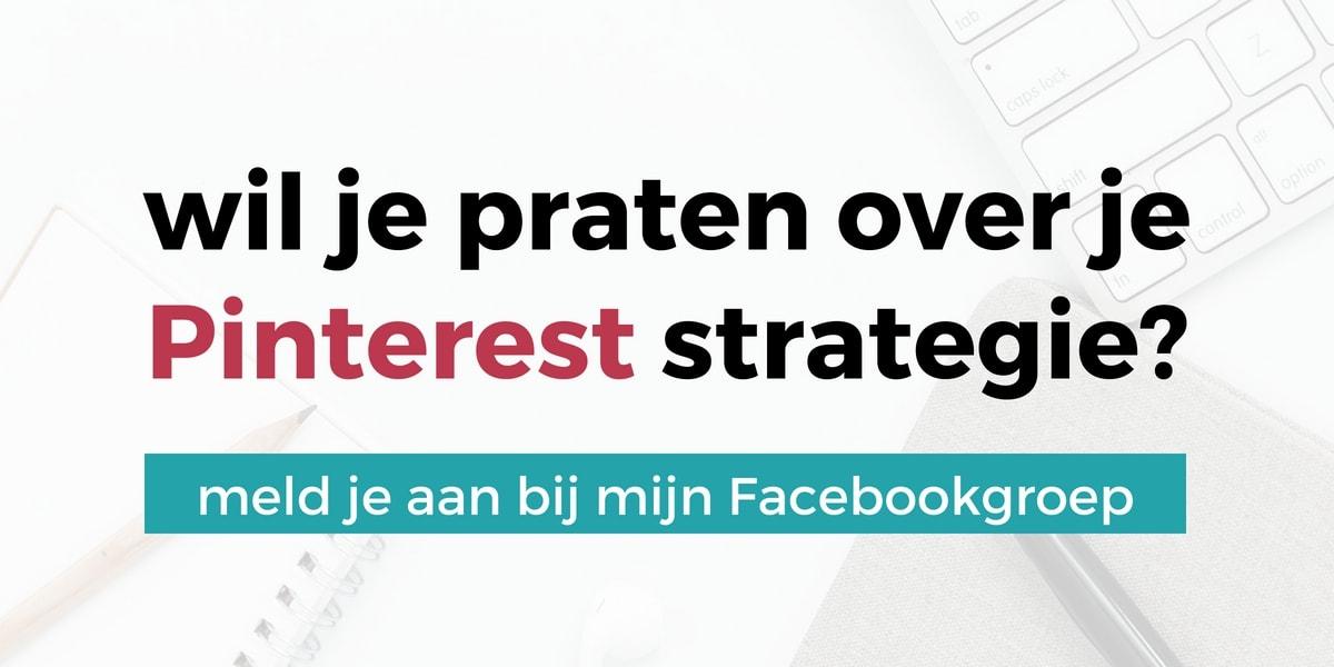Wil je praten over je Pinterest strategie? Meld je aan bij de Succes Met Pinterest Strategie Groep op Facebook | ARCHANA.NL #pinterest #pinterestmarketing