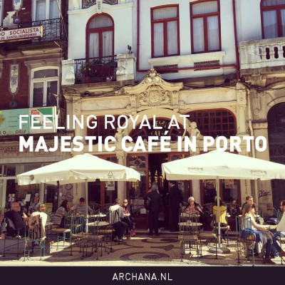 Feeling royal at Majestic Café in Porto, Portugal